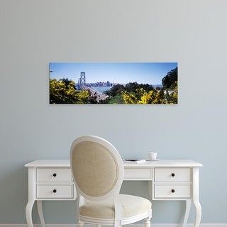Easy Art Prints Panoramic Images's 'Bay Bridge In San Francisco, San Francisco, California, USA' Premium Canvas Art