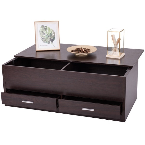 Coffee Table With Drawers Sale: Shop Gymax Slide Top Coffee Table W/ Hidden Compartment
