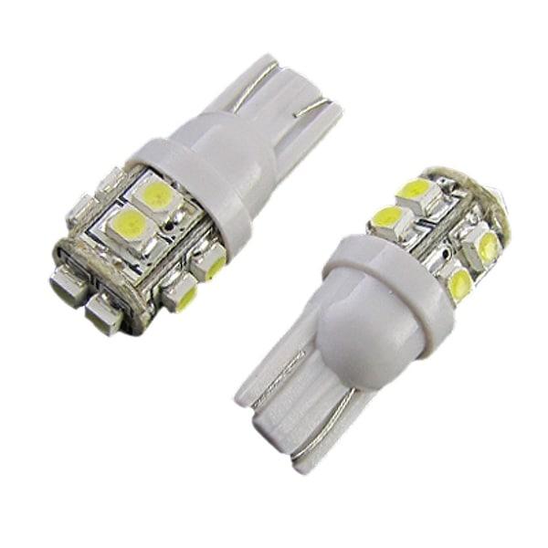 Unique Bargains White 1210 3528 SMD 10 LED Light T10 W5WB Parking Lamp Car  Bulbs 2