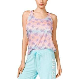 Jenni by Jennifer Moore Womens Pajama Top Printed Racerback