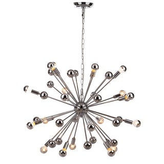 "Link to Safavieh Lighting Starburst Sputnik 20-light Chrome Chandelier - 31""x31""x22-94"" Similar Items in Chandeliers"