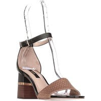 Kensie Estan Ankle Strap Block Heel Dress Sandals, Camel
