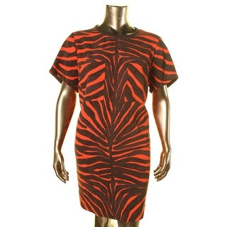 MICHAEL Michael Kors Womens Plus Textured Animal Print Casual Dress