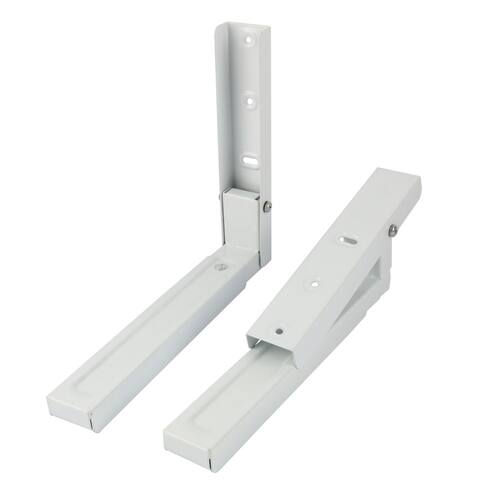 Microwave Oven Metal Foldable Wall Mounted Shelf Rack Bracket White Pair