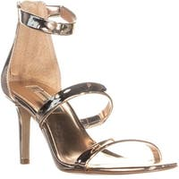 I35 Lavonn Ankle Strap Zip Up Sandals, Rose Gold - 5.5 us