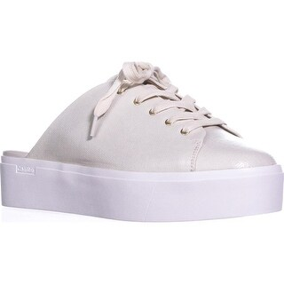 Calvin Klein Womens Jaleh Low Top Lace Up Fashion Sneakers