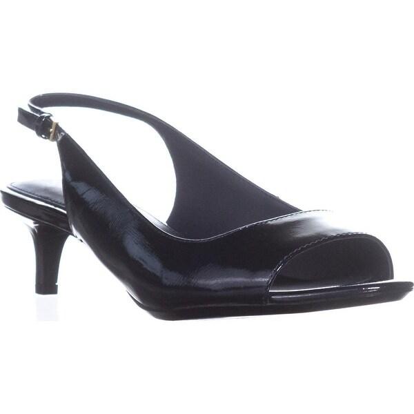 Calvin Klein Garena Open Toe Casual Slingback Sandals, Deep Navy - 9 us / 39 eu