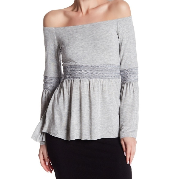 dd9920d8e90cc Shop Bailey 44 NEW Gray Womens Size Large L Bell-Sleeve Solid Knit ...