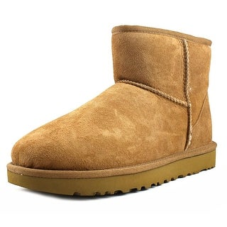 Ugg Australia Classic Mini II Women  Round Toe Leather Brown Winter Boot