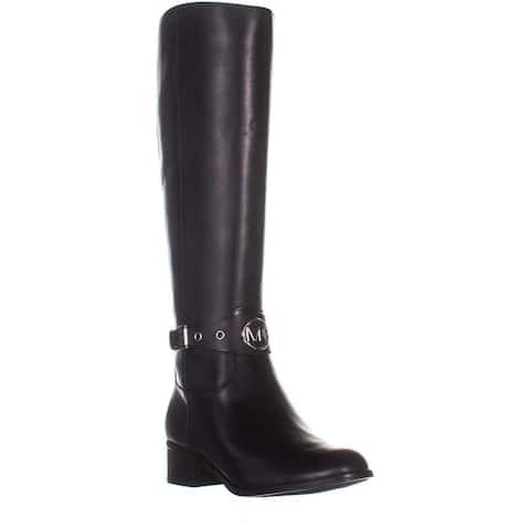 407c20cd200 Michael Michael Kors Womens Heather Leather Almond Toe Knee High Fashion  Boots