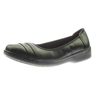 Easy Street Womens Measure Faux Leather Round Toe Flats - 6.5 narrow (aa,n)