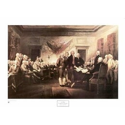 ''Declaration of Independence'' by John Trumbull Americana Art Print (25 x 34 in.)