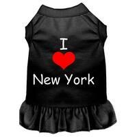 I Heart New York Screen Print Dress Black Med (12)