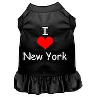 I Heart New York Screen Print Dress Black XXL (18)