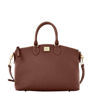 Dooney & Bourke Pebble Grain Leather Satchel (Introduced by Dooney & Bourke at $228 in Sep 2016) - Chocolate