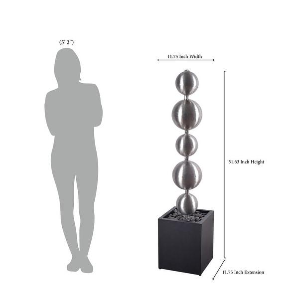 """Design Craft Jessie Stainless Steel 51-inch Height Outdoor Floor Fountain - 12"""" x 52"""""""