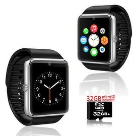 Indigi® GT8 Bluetooth SmartWatch and Phone w/ Pedometer + Sleep Monitor + Camera + Sedentary Reminder w/ 32gb microSD