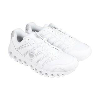 K-Swiss Grancourt II SR Mens Black Leather Athletic Lace Up Training Shoes