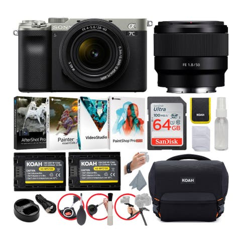 Sony Alpha a7C Mirrorless Camera with FE 28-60mm and 50mm Lens Bundle