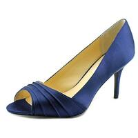 Nina Vesta Women  Peep-Toe Canvas  Heels