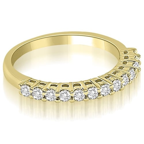 0.40 cttw. 14K Yellow Gold Classic Round Cut Diamond Wedding Ring