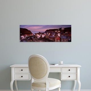 Easy Art Prints Panoramic Image 'View Of A Village, Staithes, North Yorkshire, England, United Kingdom' Canvas Art