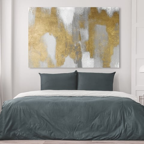Oliver Gal 'Golden Spring' Abstract Wall Art Canvas Print Paint - Gold, Gray