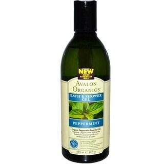 Avalon Organics - Bath And Shower Gel - Peppermint ( 2 - 12 FZ)