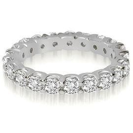 2.00 cttw. 14K White Gold Round Shared Prong Diamond Eternity Ring