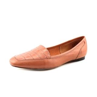Circa Joan & David Lucia Women Square Toe Leather Tan Flats