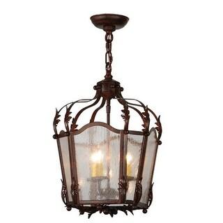 2nd Ave Lighting 3 Light Citadel 3 Foyer Lanterns - Rusty Nail