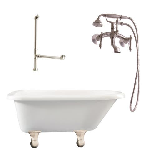 "Giagni LB1 Brighton 60"" Free Standing Soaking Tub Package -"