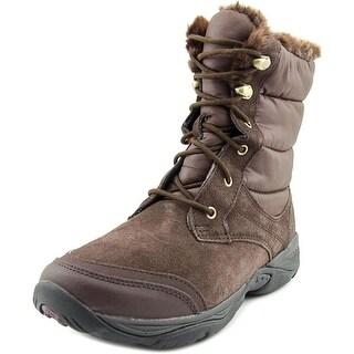 Easy Spirit Erle W Round Toe Suede Snow Boot