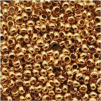 Genuine Metal Seed Beads 11/0 24KT Gold Plated 15 Grams