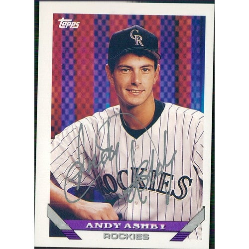 Signed Ashby Andy Colorado Rockies 1993 Topps Baseball Card Autographed