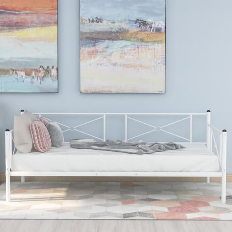 Metal daybed Frame with steel slats Twin size