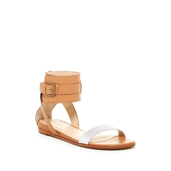 Pour La Victoire NEW Beige Women Shoe Size 6M Riko Leather Sandal