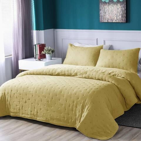Kasentex Quilt Bedspread Set Soft Machine Washable Hypoallergenic
