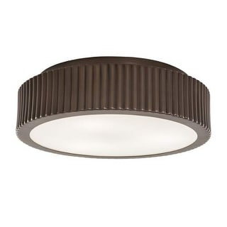 """Norwell Lighting 5651 Roseau 3 Light 17"""" Wide Flush Mount Ceiling Fixture with Matte Opal Shades"""