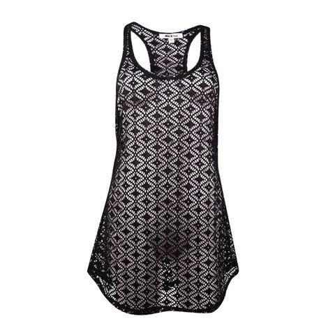 Miken Women's Crochet Lace Tank Swim Coverup