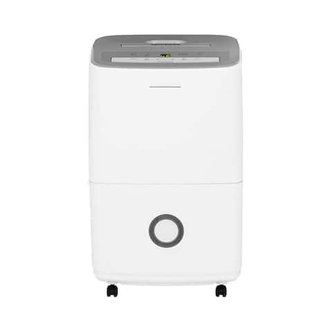"Frigidaire FFAD7033R1 15"" Wide 70 Pint Freestanding Dehumidifier with Three Speeds - White"