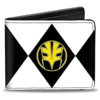 Diamond White Ranger Tigerzord Power Logo Bi Fold Wallet - One Size Fits most