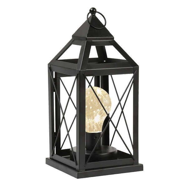 Hanging Table Lamp: Shop Circleware Lantern Metal Cage Style Desk, Table, Or