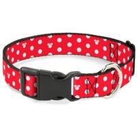 Buckle-Down Minnie Mouse Polka Dot Pet Collar - Medium