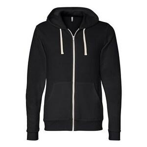 Bella + Canvas Unisex Triblend Sponge Fleece Full-Zip Sweatshirt - Solid Black Triblend - XS