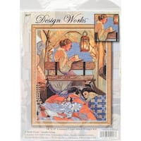 "Wagon Ride Counted Cross Stitch Kit-14""X18"" 14 Count"