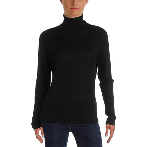 BOSS Hugo Boss Womens Fabuna Turtleneck Sweater Heathered Wool