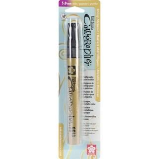 Pen-Touch Calligraphy Marker Medium Point 5Mm-Gold Metallic