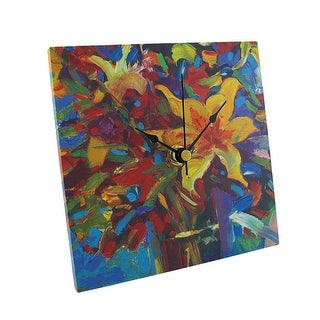 `Celebrate` Square Tabletop or Wall Clock 6 In.