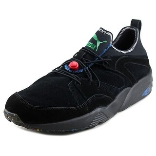 Puma BOG Soft Flag Men Round Toe Leather Black Running Shoe